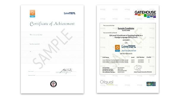 Printed Certificate - Level 5