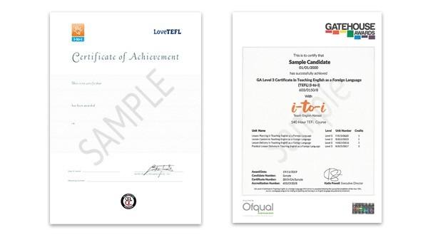Printed Certificate - Level 3