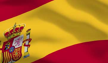 A close up of the Spanish flag