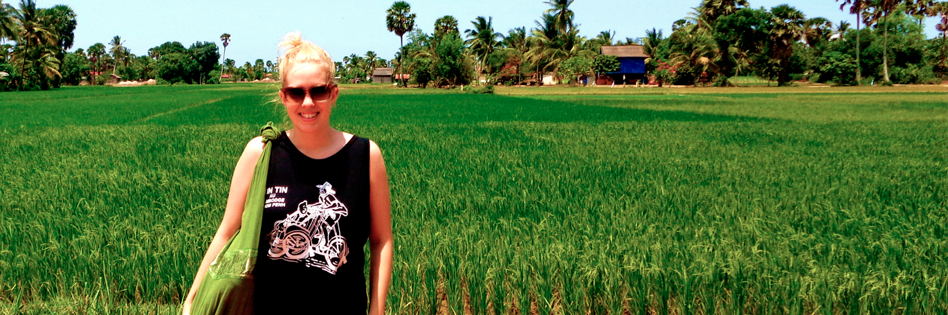 Lucy Makepeach in Cambodia