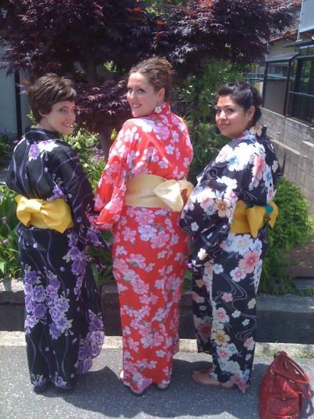 Sarah in Japanese dress