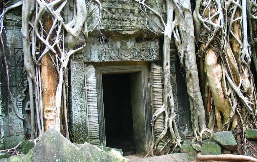 Doorway in Cambodia