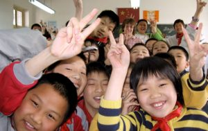 Lots of Chinese children