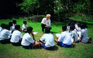 Students learning English