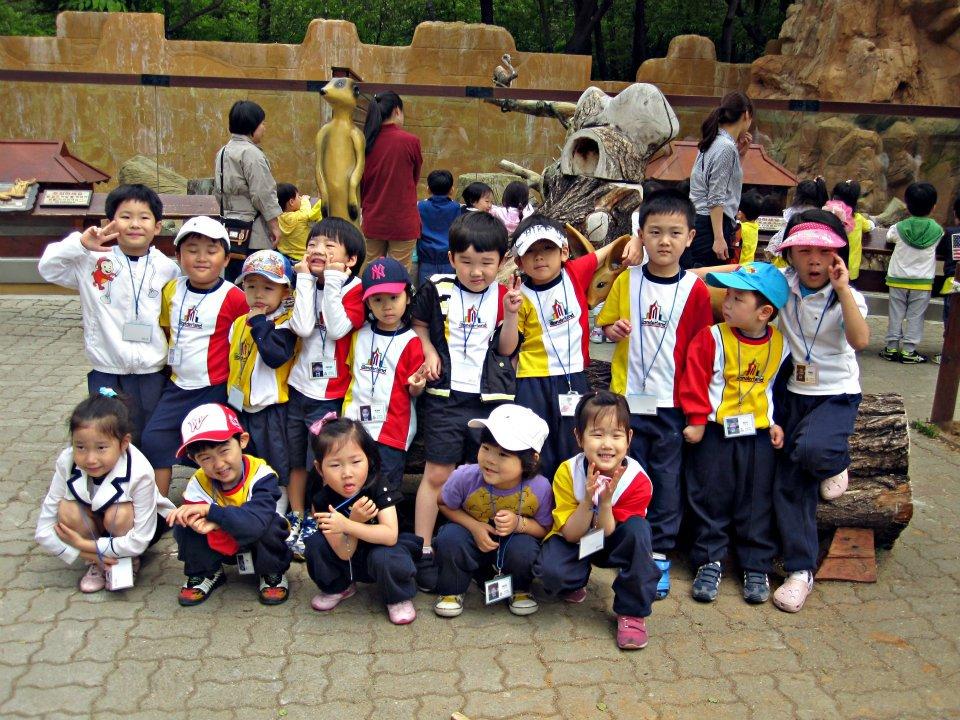 amy with kindergarten