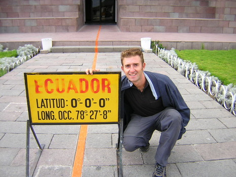 Baz with sign in Ecuador
