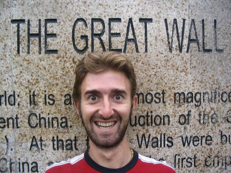 Baz at the great wall of China