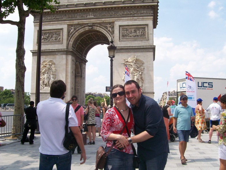 James by the arc de triomphe