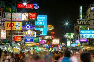 Bustling street in Bangkok