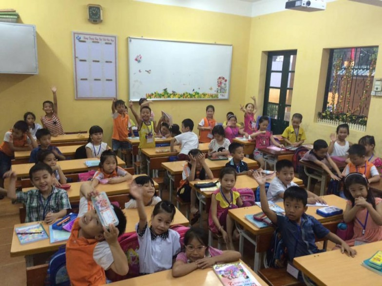 Class of TEFL students in Vietnam