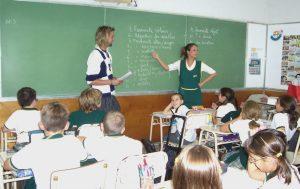 teaching in a TEFL clasroom