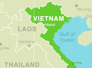 Hanoi, Vietnam TEFL Internship map