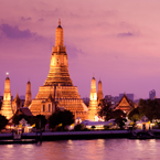 The temple of dawn in Bangkok, Thailand