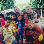 TEFL teacher with students in Cambodia