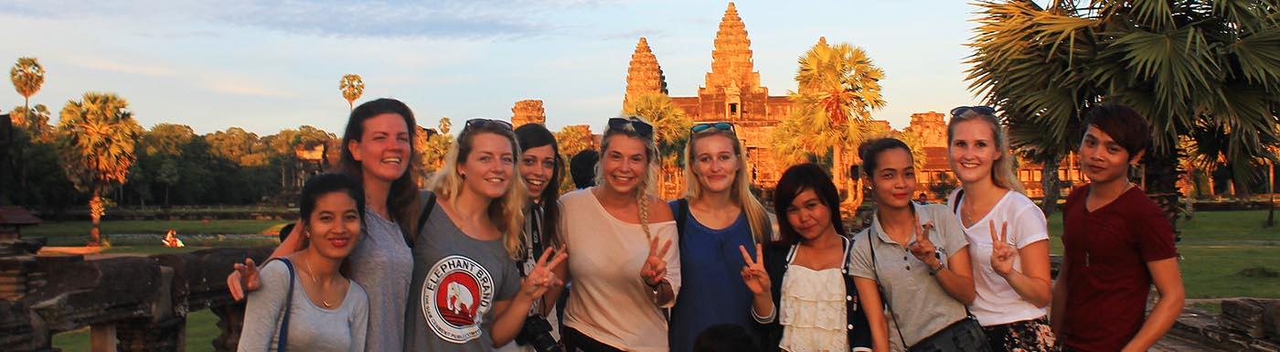 Interns in Cambodia