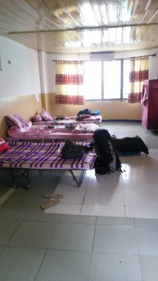 A typical intern bedroom at school in Phnom Penh in Cambodia
