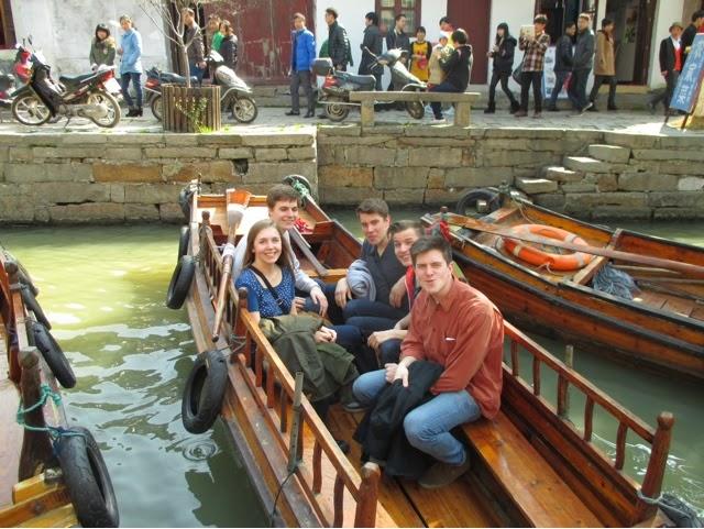 TEFl teachers on a boat