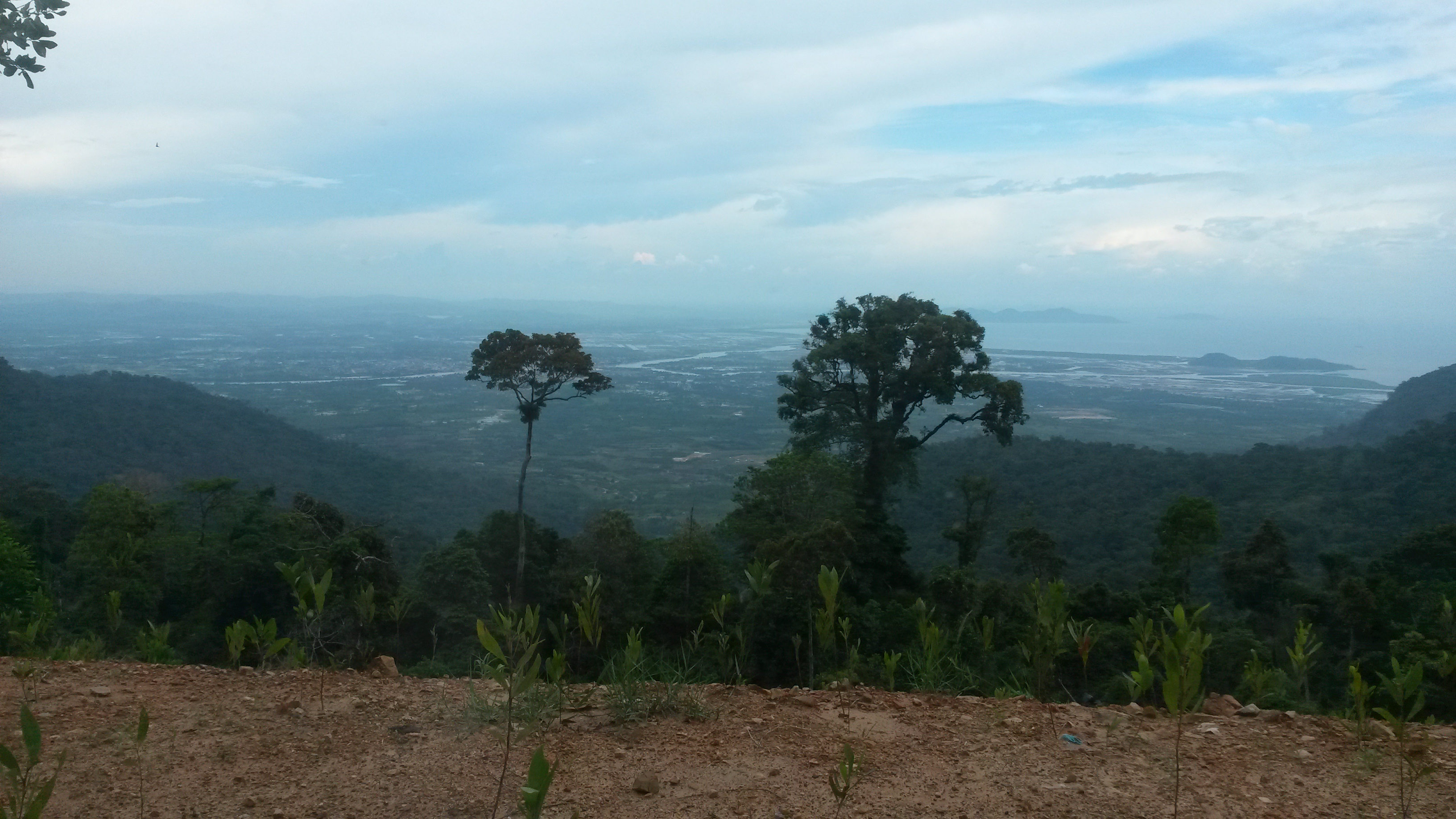 View from the top of Bokor Mountain, Cambodia