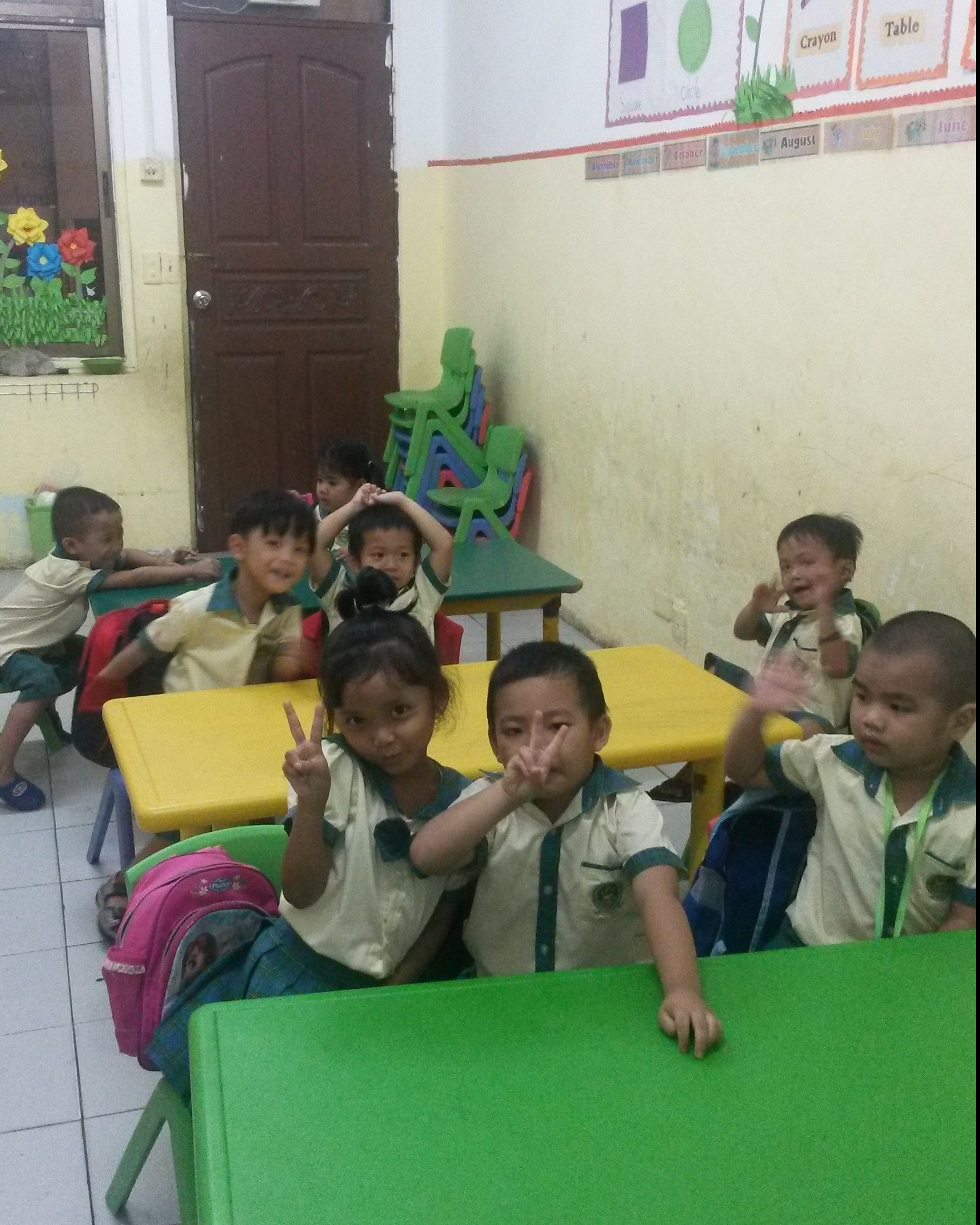 Students at school in Phnom Penh, Cambodia