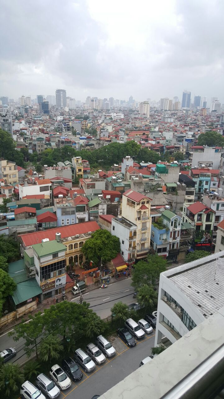 Aerial view of flats in Hanoi, Vietnam