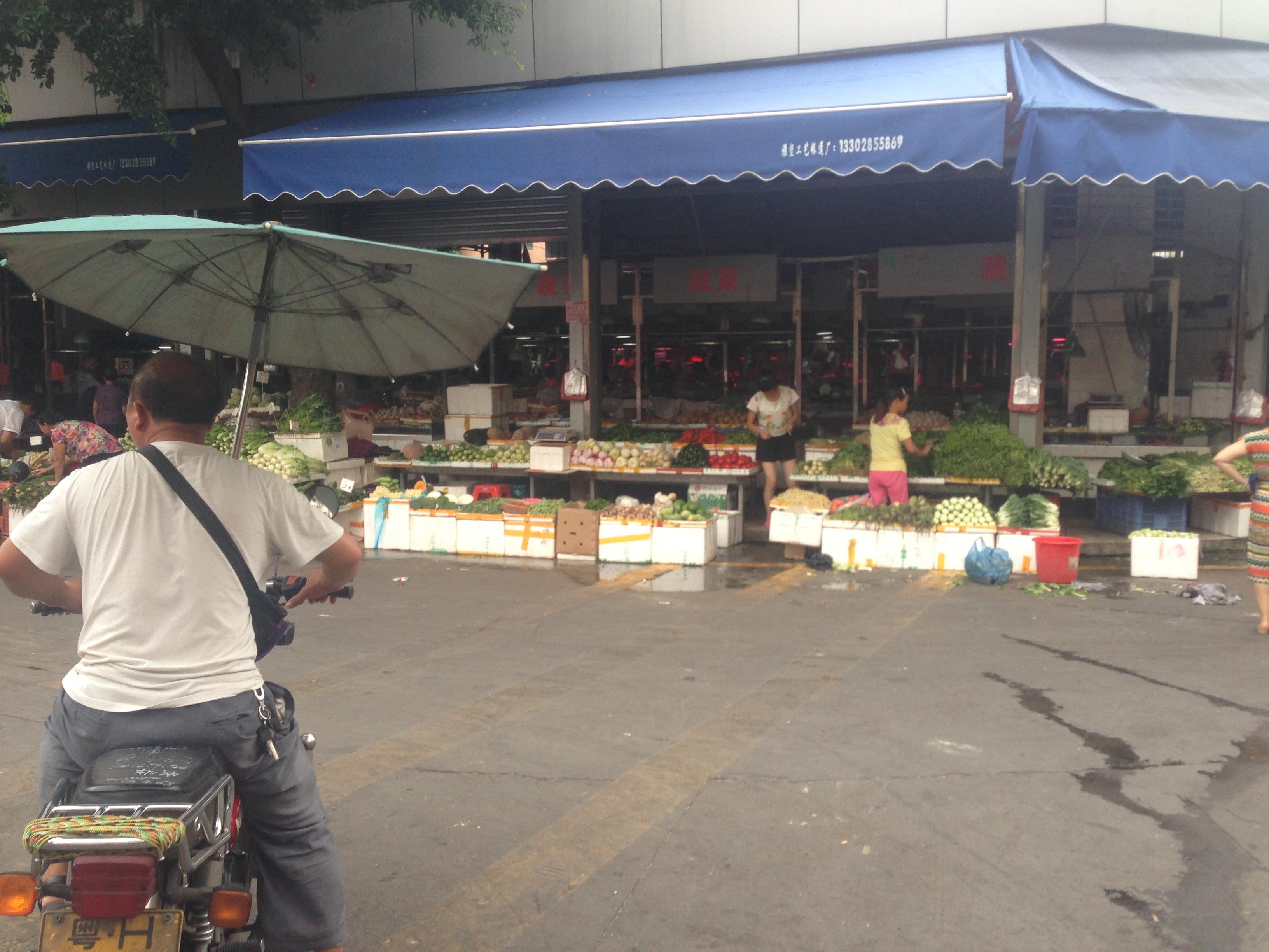 Street market in Foshan, China