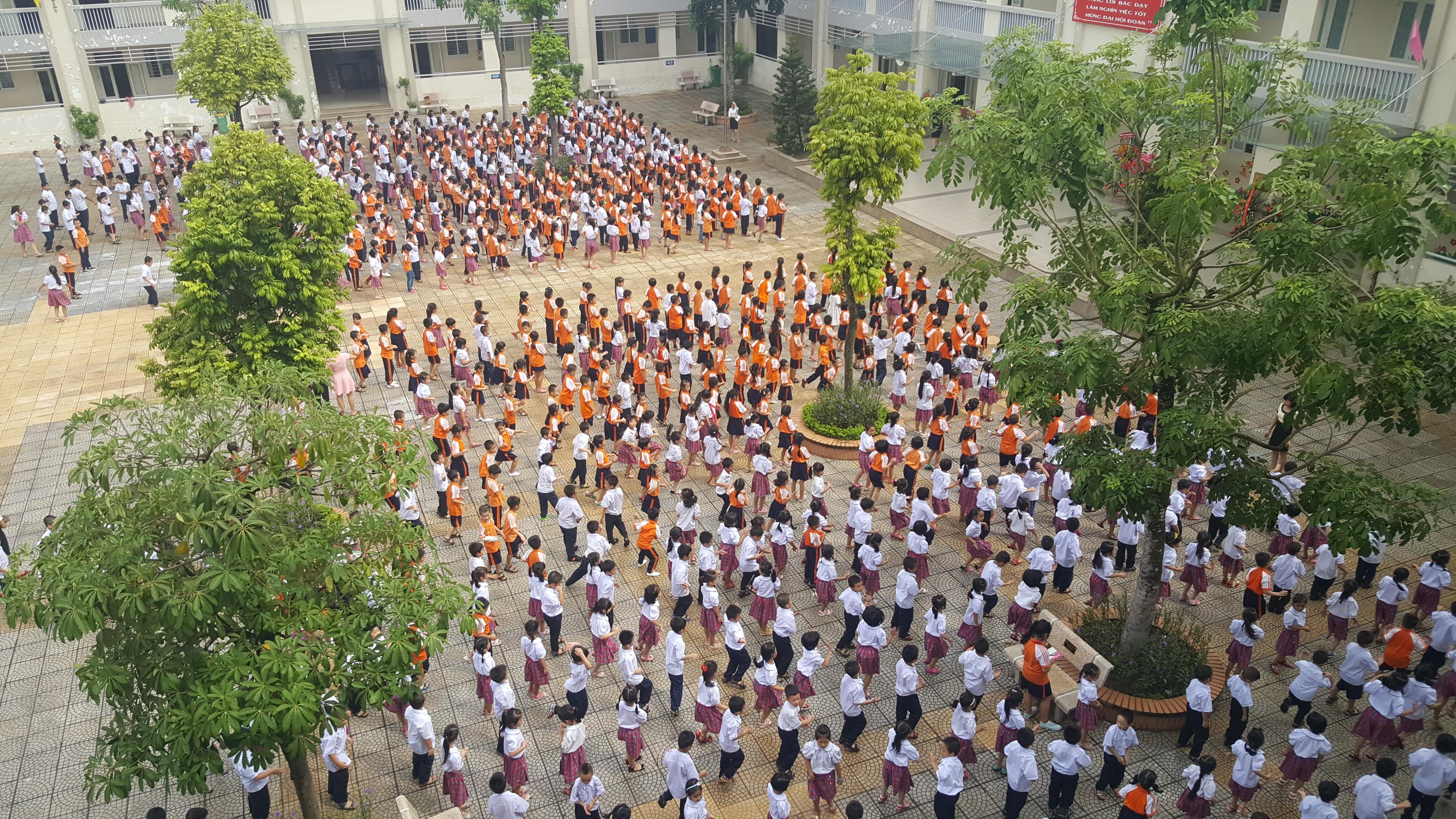 Students in class in Hanoi, Vietnam