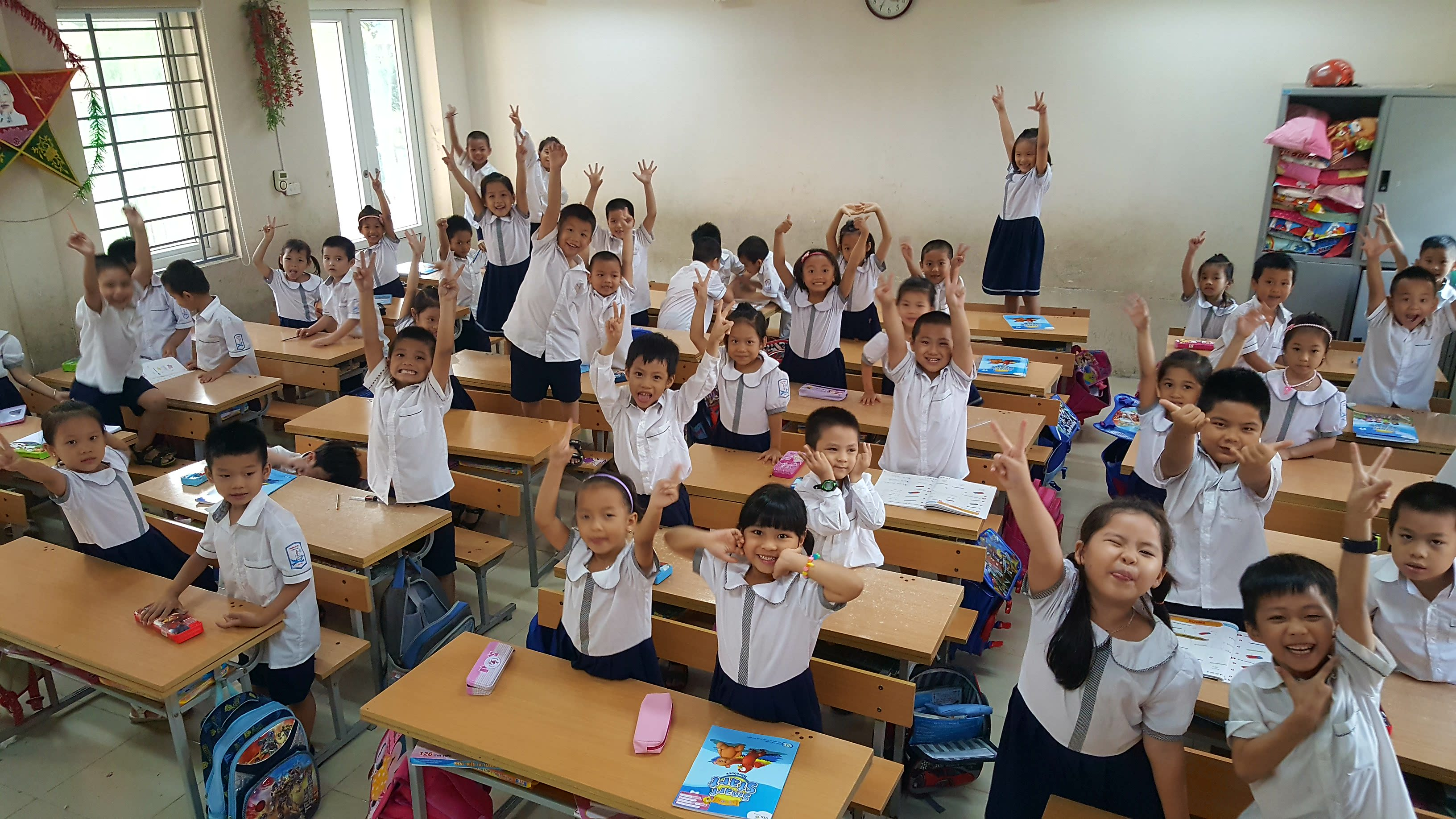 English students in class in Vietnam