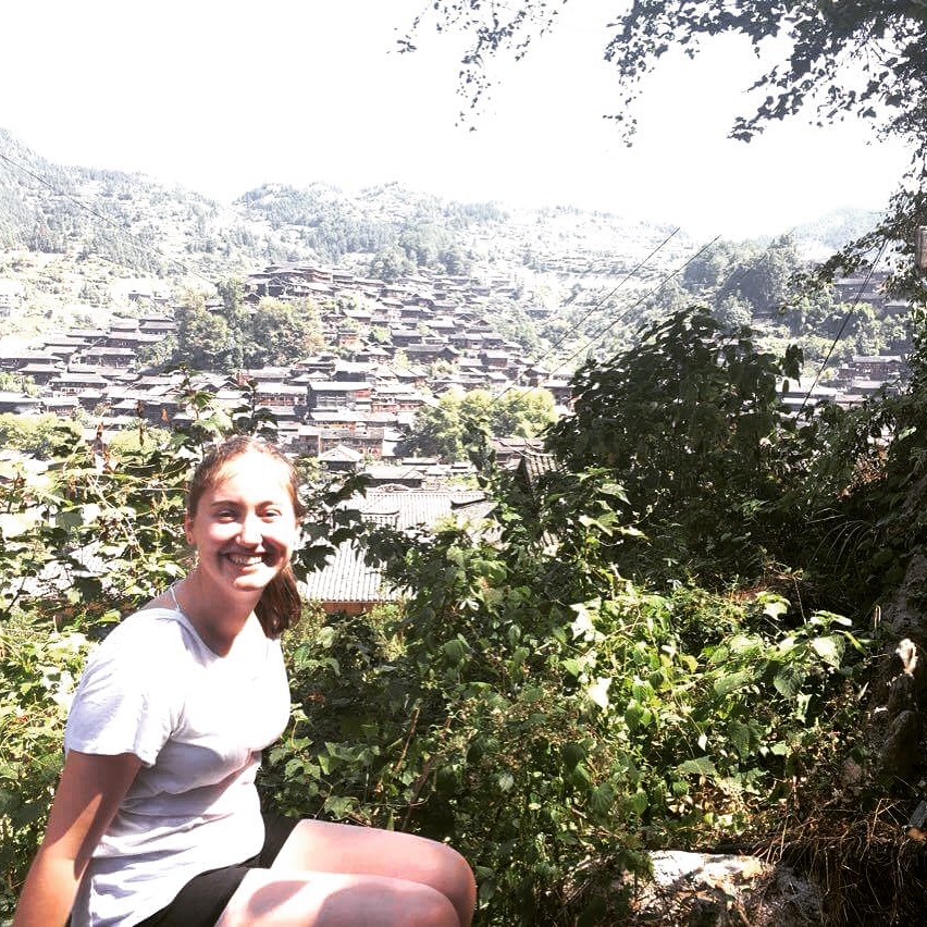 i-to-i intern Danni in front of an amazing view in China