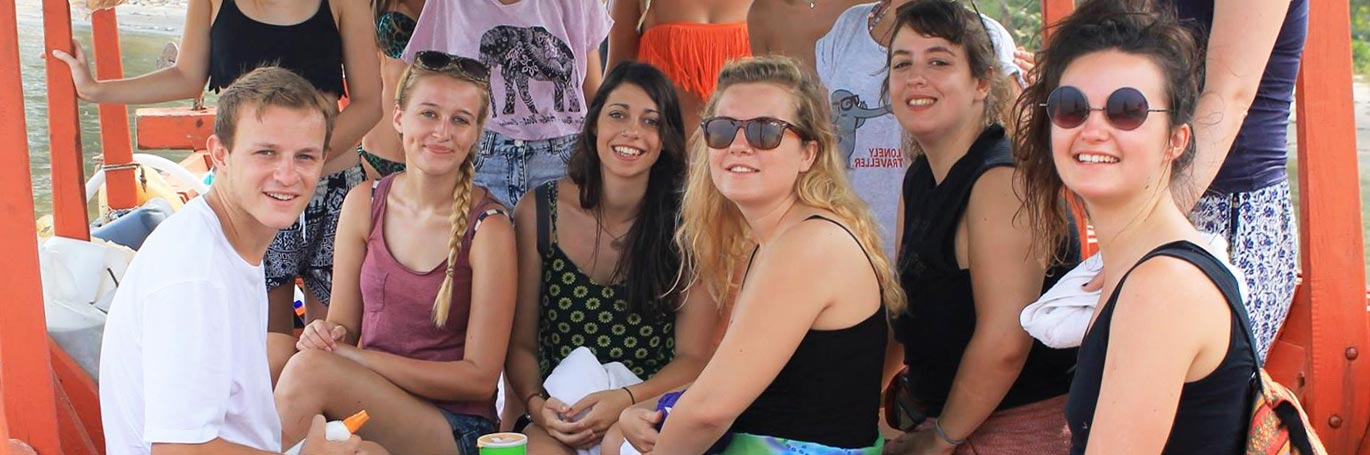 Group of TEFL students in Cambodia