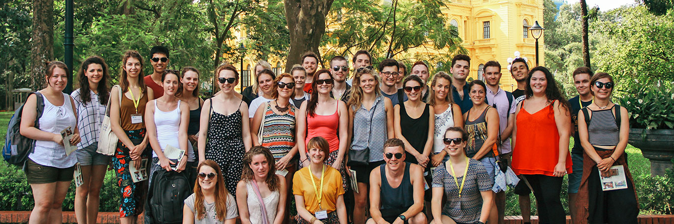 Group of TEFL students in Vietnam
