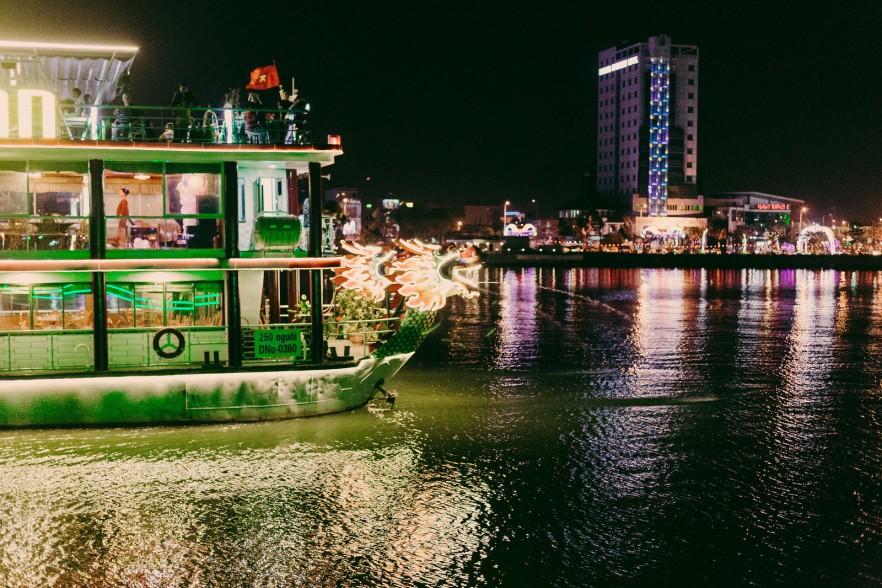 Vietnam nighttime boat trip