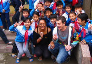 TEFL teachers and students in group picture