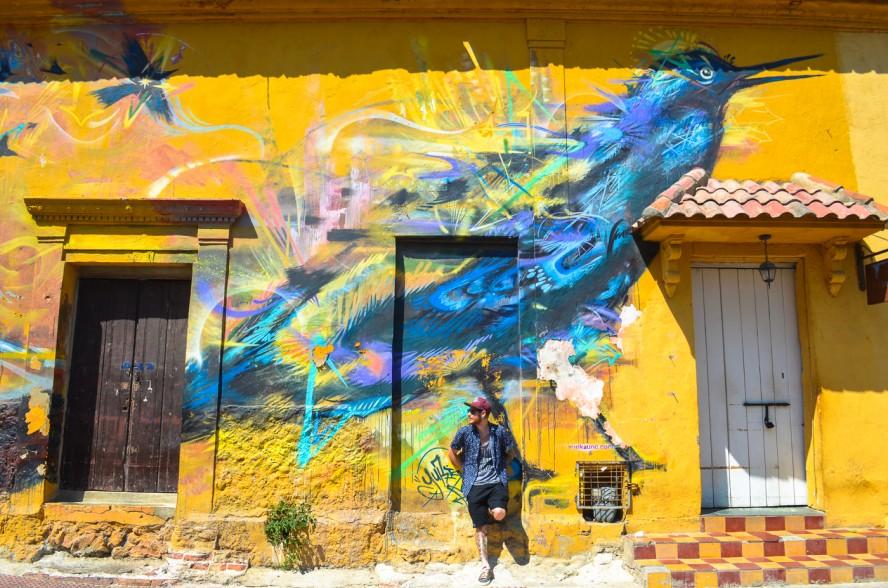Streetart in Cartagena, Colombia