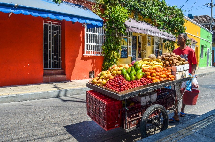 Food cart in Cartagena, Colombia