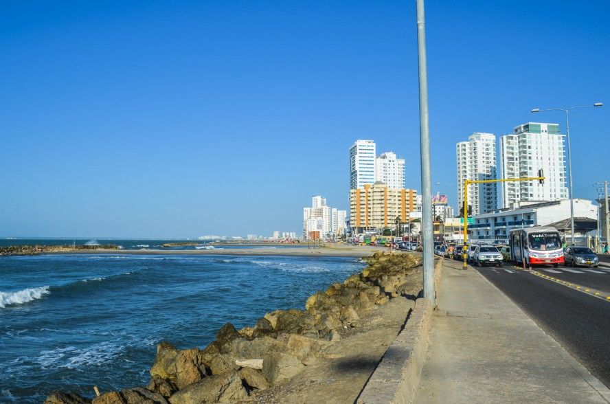 Street along the beach in Catanega Colombia