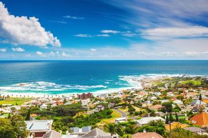Cape Town South Africa view out to sea