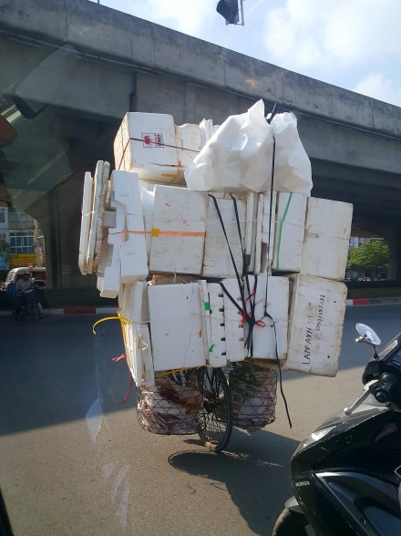 Overloaded bicycle in Vietnam