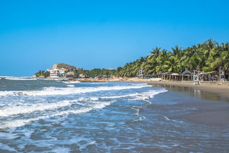 The beach at Santa Veronica