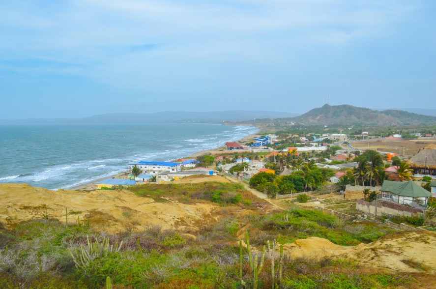 View of Santa Veronica from the hillside