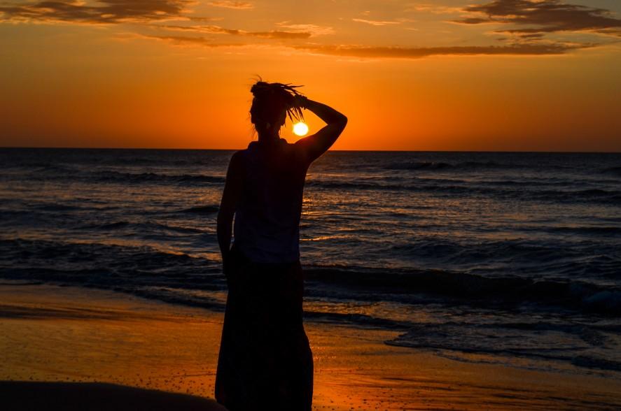 Sunset on the beach in Santa Veronica