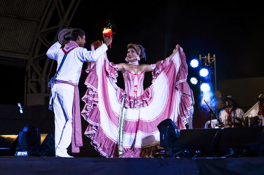 Carnival flamenco dancers