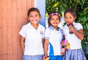 School kids ready to learn