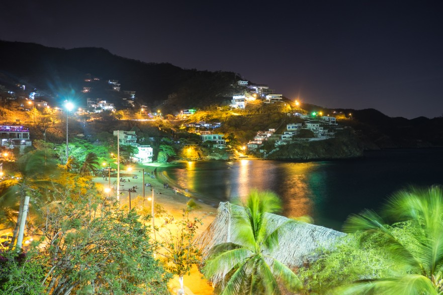 Lights of the town Taganga