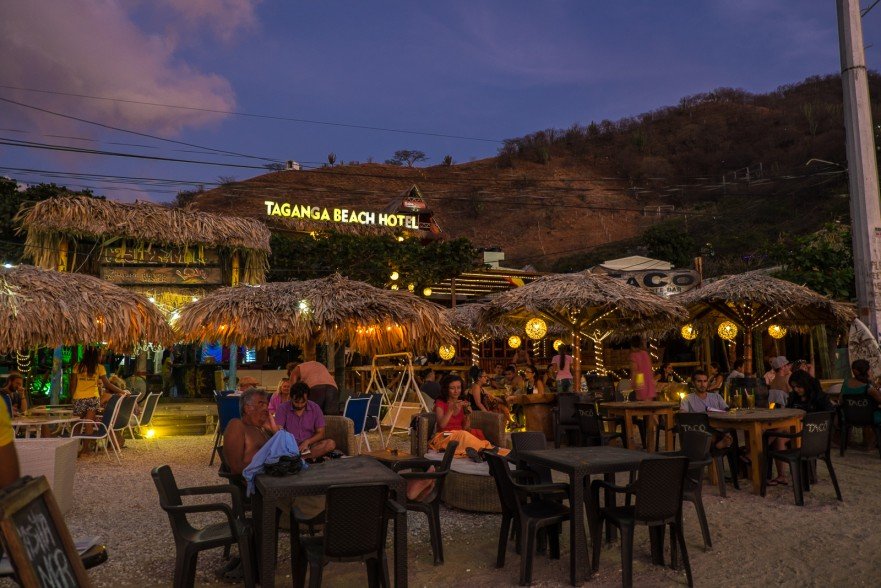 Beachside bar in Taganga