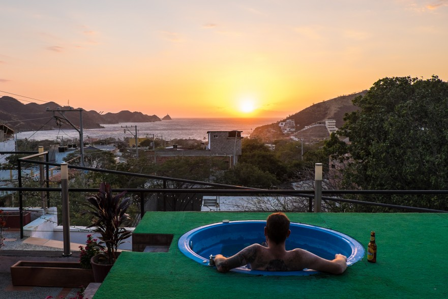 Watching the sunset in Taganga