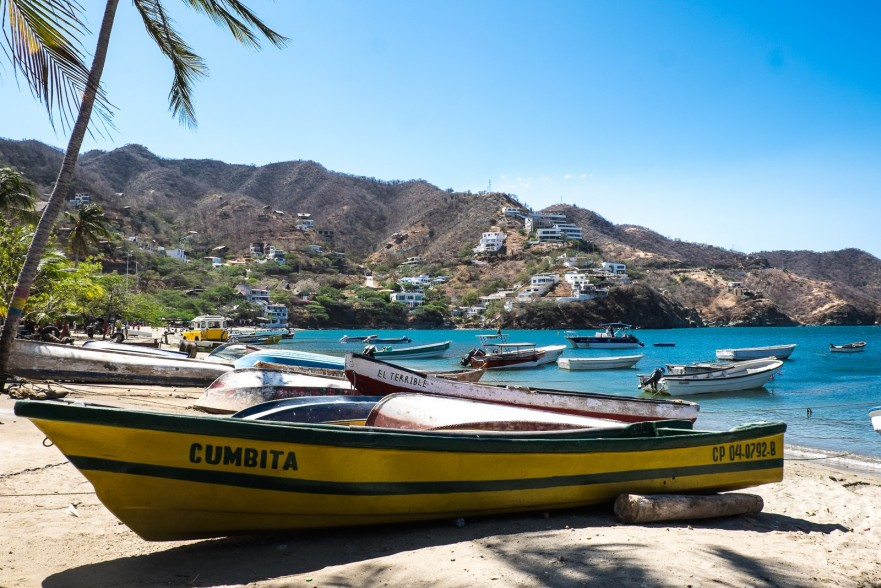 Diving boats in Taganga