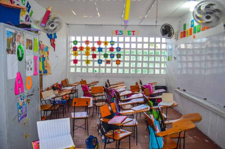 Empty classroom in Colombia