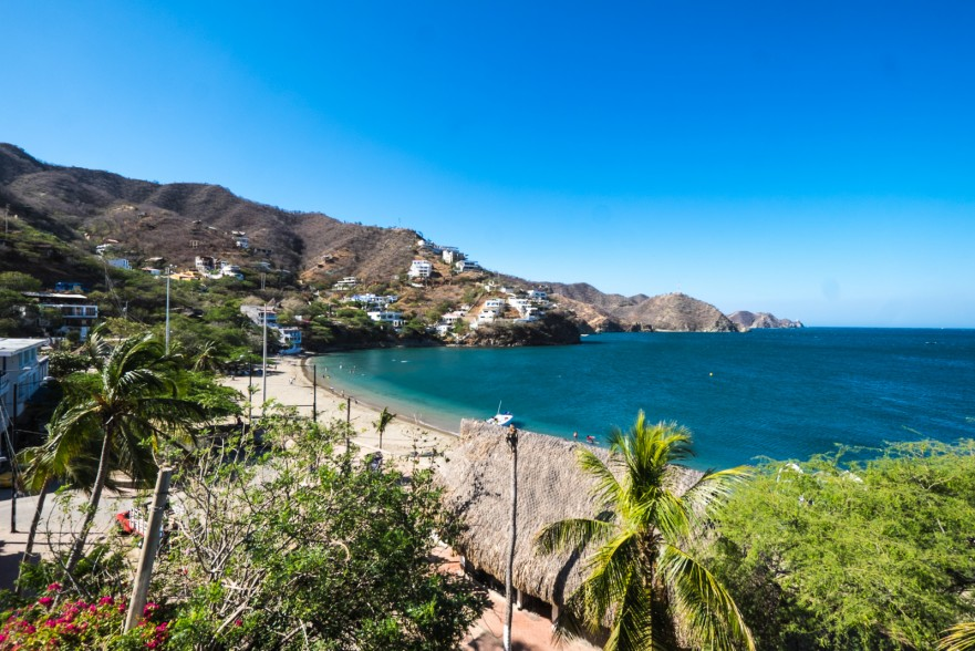 View of the beach in Taganga