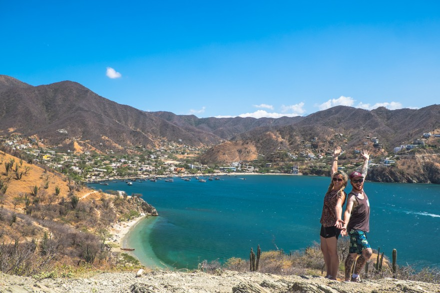 TEFL interns posing in Taganga
