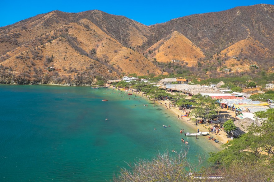 Playa Grande in Taganga